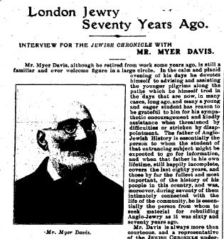 Myer Davis - JC interview 5 Aug 1910